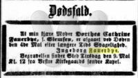 Dødsfald - Dorthea Fauerbye - 1899 - Adresseavisen