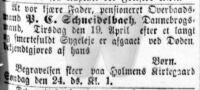 Dødsfald - Peter Christian Schneidelbach - Nationaltidende 22. april 1898