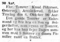 Knud Petersen - 90 år - Kjøbenhavns Amts Avis