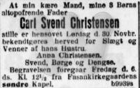 Dødsfald - Carl Svend Christensen - 1918 - Social-Demokraten
