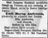 Dødsfald - Emil Hurup Andresen - Nationaltidende