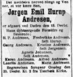 Dødsfald - Emil Hurup Andresen - Social-Demokraten