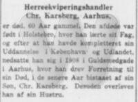 Dødsannonce - Christian Karsberg - Jyllands-Posten - 11. april 1940