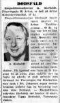 Dødsfald - Aage Herholdt - Demokraten (Aarhus) - 3. januar 1962