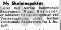 Ny Skoleinspektør - Aarhus Amtstidende - 10. juni 1954