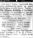 Dødsfald - Thorvald Georg Jensen - Dagbladet (København) - 23. maj 1920
