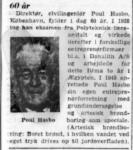 Poul Hasbo 60 år - Aktuelt - 2. december 1964