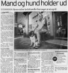 Artikel: Mand og hund holder ud - Fyns Stiftstidende - 18. jul 2003