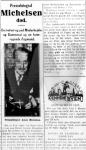 Dødsfald - Asker Michelsen - Aftenbladet - 20. februar 1935