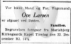 Dødsfald - Ove Larsen (vognmand) - Social-Demokraten - 21. december 1942