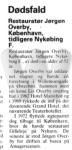 Dødsfald - Jørgen Overby - Ny dag - 28. august 1986