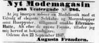 Augusta Frandzen - Modebutik - Fyens Stifts Adresse- og Politiske Avis