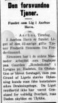 Dødsfald - Frederik Simonsen - Kallundborg Avis - 25. august 1931