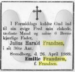 Julius Harald Frandzen - Dødsannonce - Svendborg Avis