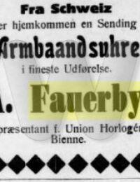 Arnold Fauerby - Annonce - Silkeborg Avis - 18. september 1917