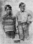 Peter Emil (tv.) og Viggo Johan Schneidelbach (1930)